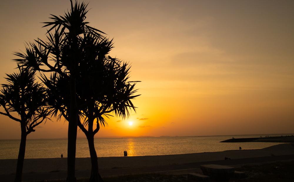 沖縄着陸の瞬間、一番最初に出会えるビーチ